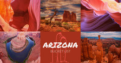 Arizona Travel and Tourism Instagram Landscape Graphic with Collage Cactus