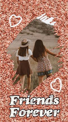 Glitter Frame Friends Forever Instagram Story Frame