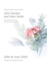 John Gordon and Mary Smith Invitations