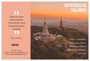 Thailand adventures travel brochures  Folheto dobrável
