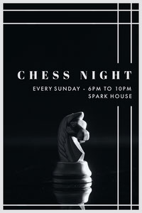 CHESS NIGHT Invitations