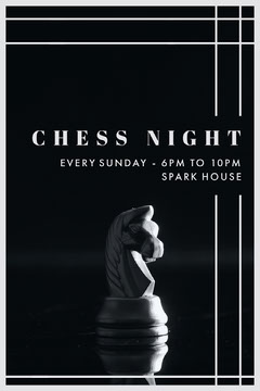 CHESS NIGHT Game Night Flyer
