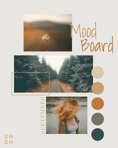 Beige and Grey, Autumn Mood Board, Instagram Portrait Portrait