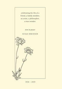 Rest In Peace Funeral Invitation Card with Flowers Rest in Peace