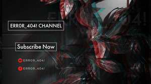 Black and White Error Channel Banner Banneri