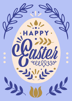 Happy Easter Card Easter