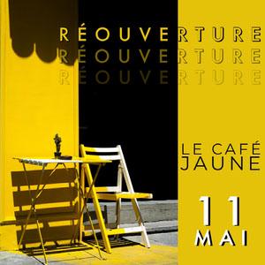 Le Cafe Jaune Instagram square  Flyer publicitaire