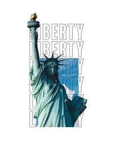 Statue of Liberty T-shirt Badge Sky