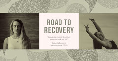 White and Grey Road To Recovery Promotion Wellness