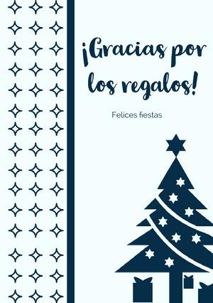 ¡Gracias por los regalos!  Tarjeta de Navidad