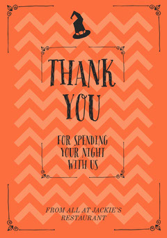 Fright Night Halloween Party Thank You Card Halloween Party Thank you Card