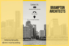 Yellow and Gray City Photo Architecture Studio Brochure Architecture