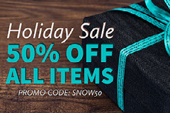 50% Off  All Items Holiday Sale