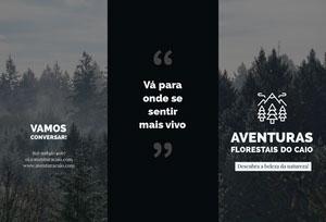 outdoor adventures travel brochures  Folheto dobrável