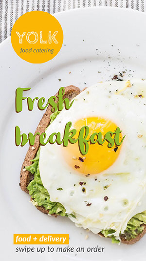 Breakfast Catering Service Instagram Story Ad Catering Flyer