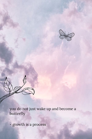 growth process butterfly Pinterest  Text on Photos