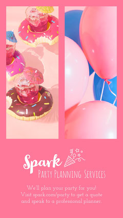 Pink Party Panning Service Advertisement Service