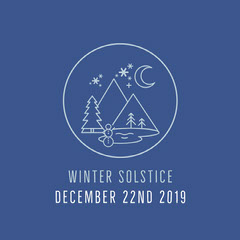 Violet and White Winter Solstice Instagram Graphic Winter