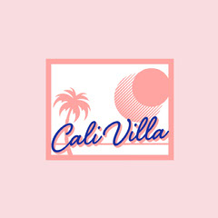 California Villa Logo with Palm Trees Hotels