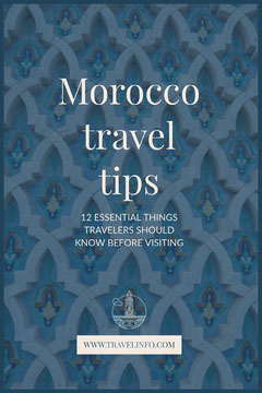 Blue Morocco Travel Advice Pinterest Ad  Travel Agency