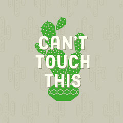 Grey and Green Sentence Instagram Graphic Cactus