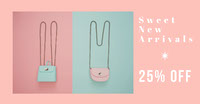 Pink and Blue Shop Sale Advertisement Banner