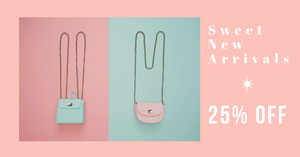 Pink and Blue Shop Sale Advertisement Banner de anúncio