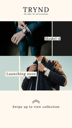 Men's Fashion Store Instagram Story Ad with Photos of Male Models Fashion