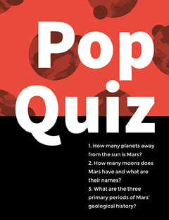 Red, Black and White Pop Quiz Poster Flyer Quiz Night Poster