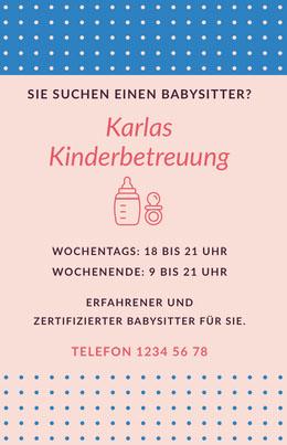 Karlas<BR>Kinderbetreuung  Flyer