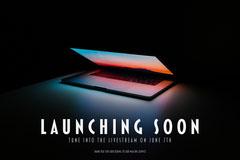 Laptop Glow Launch Postcard Launch