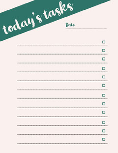 Green Daily Planner Lifestyle