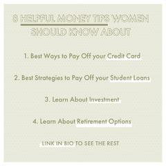 money tips for women Instagram post  Retirement