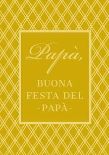 gold patterned Father's Day cards Biglietti elettronici per la festa del papà