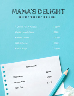 MAMA'S DELIGHT Flyer