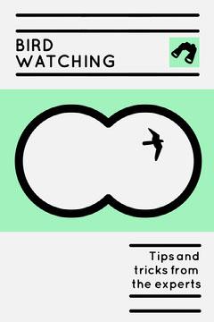 Green Binoculars Bird Watching Pinterest Graphic Bird