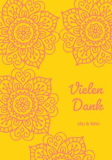 henna inspired wedding thank you cards Hochzeitsdankeskarten