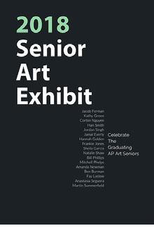 2018 Senior Art Exhibit  Poster