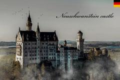 neuschwanstein Germany postcard Vacation