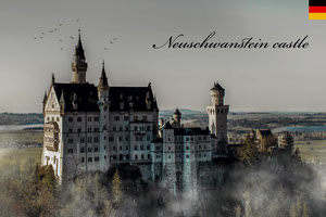 View Of Neuschwanstein Germany Postcard Postal