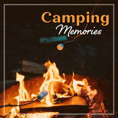 Black & Orange Camp Fire Instagram Square Camping