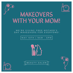 MAKEOVERS WITH YOUR MOM! Beauty Salon