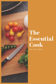 Orange and White The Essential Cook Book Cover Couverture de livre