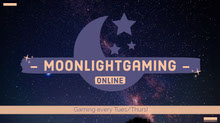 Illustrated Night Sky Moonlight Gaming Twitch Banner  Banner per Twitch