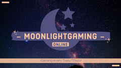Illustrated Night Sky Moonlight Gaming Twitch Banner  Moon