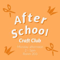 Orange After School Craft Instagram Square After School