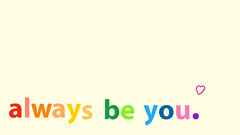 White and Rainbow LGBTQ+ Support Catchphrase Facebook Banner Anti-Bullying