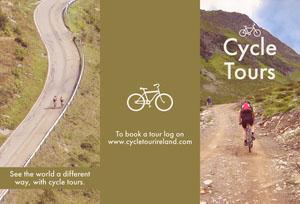 Green Bicycle Tour Brochure Travel Brochure