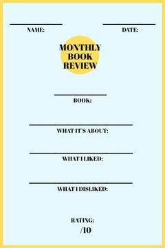 Yellow School Book Report Card Homeschool Report Card