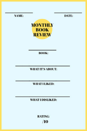 Yellow School Book Report Card Report Card